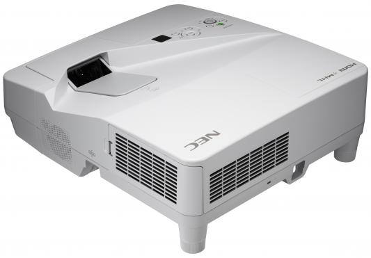 Фото - Проектор NEC UM301W (UM301WG+WM, UM301WG+WK) 3хLCD, 3000 ANSI Lm, WXGA, ультра-короткофокусный 0.36:1, 4000:1, HDMI IN x2, USB(A)х2, RJ45, RS232, 20W mono, 5.5 кг, настенный крепёж NP04WK nec um301w um301wg wm с крепежом np04wk