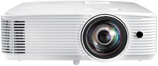 Фото - Проектор Optoma W308STe Full 3D; DLP, WXGA (1280*800), 3600 ANSI Lm, 22 000:1, Короткофокусный TR 0.521:1; HDMI 1.4a x1; VGA (YPbPr/RGB) x1;Composite x1; AudioIN x1; VGA Out; Audio Out;USB-A power 1A;RS232;10W x1; 26dB; 3.0 кг. белый [E1P1A28WE1Z1] optoma eh334 full 3d