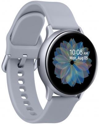 Смарт-часы Samsung Galaxy Watch Active2 40мм 1.2 Super AMOLED серебристый (SM-R830NZSASER) смарт часы samsung galaxy watch active2 40мм 1 2 super amoled черный sm r830nzkaser