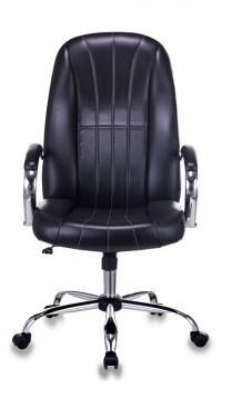 Картинка для Кресло руководителя Бюрократ T-898SL/BLACK черный искусственная кожа крестовина хром