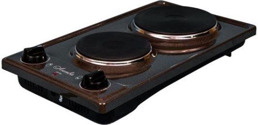 Плита Электрическая Лысьва ЭПБ 22 коричневый/рябчик эмаль (настольная) плита лысьва эпб 22 рябчик кремовый