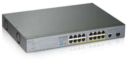Коммутатор Zyxel GS1300-18HP-EU0101F 17G 1SFP 16PoE+ 170W неуправляемый коммутатор zyxel gs1300 26hp eu0101f