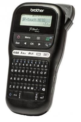 Фото - Принтер Brother P-touch PT-H110 переносной черный/белый лента ламинирования brother tz221 9мм для p touch черный на белом