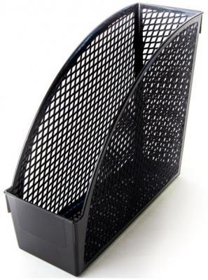 Картинка для Накопитель для бумаг вертикальный, 1 отд., 110 мм, пластик, черный цв., INDEX, ЭКОНОМ