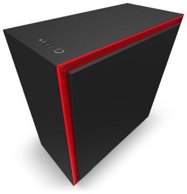 Корпус ATX NZXT H710 Без БП чёрный красный (CA-H710B-BR) корпус nzxt h710 white ca h710b w1