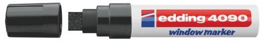 Фото - Маркер меловой, 4-15 мм, черный, клиновидный нак., EDDING, 4090 канцелярия edding маркер для окон e 4090 4 15 мм