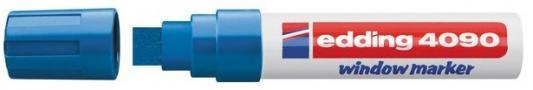 Фото - Маркер меловой, 4-15 мм, синий, клиновидный нак., EDDING, 4090 канцелярия edding маркер для окон e 4090 4 15 мм