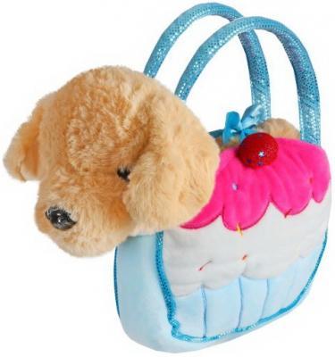 Купить Щенок 21см беж. в сумочке пирожное, Fluffy Family, Животные