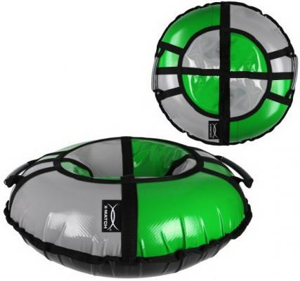 Санки надувные X-Match ПВХ, D-100 см, сер-зеленый