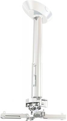 Фото - [PR18A-W] Универсальный потолочный комплект Wize Pro PR18A-W состоящий из крепления+штанги 30-46см +площадки к потолку для проектора, макс. расстояние между крепежными отверстиями 430мм, наклон +/- 25°, поворот +/- 6°, вращение 360°, до 23кг, белый 23 028 н р статуэток из трех попугай дерево стекл мозаика 50 40 30 см