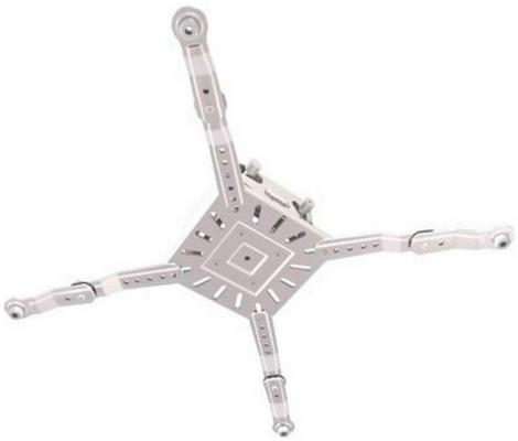 [PR3XL-W] Универсальное потолочное крепление Wize Pro PR3XL-W для проектора с микро регулировкой вручную/без использования инструментов, максимальное расстояния между крепежными отверстиями 537 мм, наклон +/-15°, поворот +/- 8°, вращение 360°, до 32 кг,
