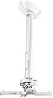 Фото - [PR35A-W] Универсальное потолочный комплект Wize Pro PR35A-W состоящий из крепления+штанги 60-90 см +площадки к потолку для проектора, максимальное расстояние между крепежными отверстиями 430 мм, наклон +/- 25°, поворот +/- 6°, вращение 360°, до 23 кг, б потолочный комплект для проектора wize pro для размещения на подвесной потолок на основе комплекта prg11a w штанга 15 28 см