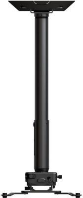 Фото - [PRG11A] Универсальный потолочный комплект Wize Pro PRG11A состоящий из крепления с микрорегулировкой+штанги 15-28 см +площадки к потолку для проектора,макс.расст. между крепеж.отверстиями 537 мм, наклон +/- 15°, поворот +/- 8°, вращение 360°, до 32 кг, карниз потолочный пластиковый dda поворот акант двухрядный серебро 2 8
