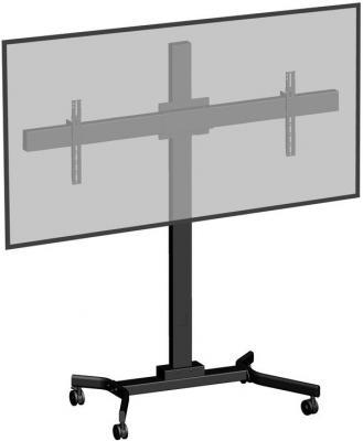Фото - [M263VC] Мобильная стойка 2х1 для видеоконференций Wize M263VC для дисплеев 32 46, Max VESA 400х400, высота 183 см,вертикальная регулировка, регулируемые полки, кабельный канал, наклон +15/-5°, поворот +/-6°, до 68кг(общ), черн. (5 мест) мобильная напольная стойка m263vc