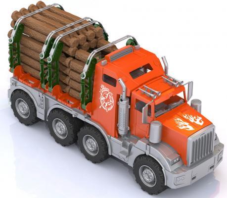 Купить Лесовоз Аризона (с избушкой), Нордпласт, оранжевый, Игрушечные машинки