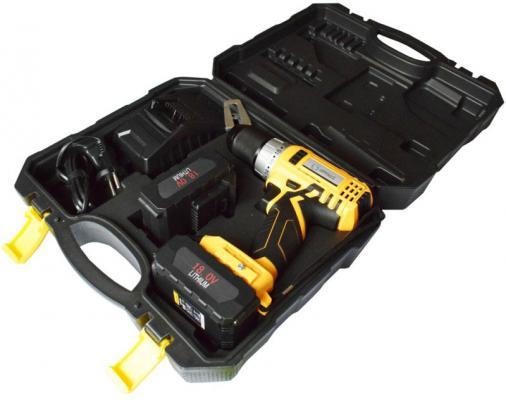 Аккумуляторная дрель-шуруповерт SKYTOOLS SK7003  Li-Ion 18 В/ 4 Ач х2, 1600 об/мин, БЗП 13 мм