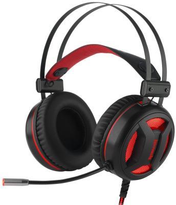 Гарнитура Redragon Minos красный + черный (подсветка,объемным звуком 7.1,кабель 2 м) гарнитура