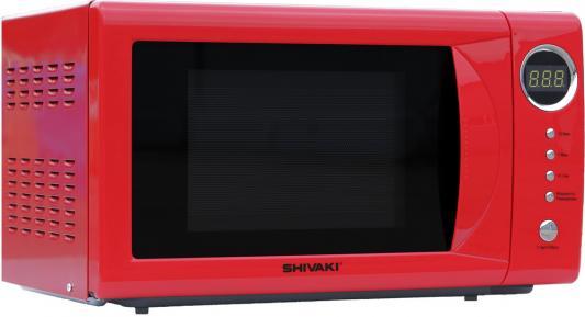 Микроволновая печь SHIVAKI SMW2034ER, 700 Вт., 20 л., электр. упр., таймер 60 мин., разморозка, красный