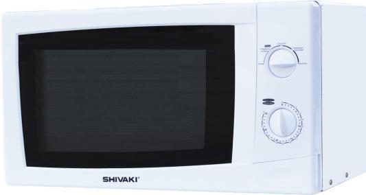 Микроволновая печь SHIVAKI SMW2012MW, 700 Вт., 20 л., мех. упр., таймер 30 мин., разморозка, белый