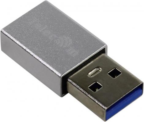 Фото - Переходник USB Type C USB 3.0 TELECOM TA432M серебристый переходник