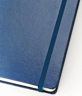 Бизнес-Блокнот А5, 100 л., твердая обложка, балакрон, на резинке, BV, Синий, 3-101/01 бизнес блокнот а5 100 л твердая обложка балакрон на резинке bv зеленый 3 101 03