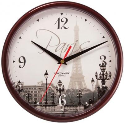 Часы настенные Troyka 91931927 рисунок коричневый