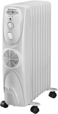 Масляный радиатор Engy EN-1309F 2500 Вт вентилятор термостат колеса для перемещения белый биметаллический радиатор rifar рифар b 500 нп 10 сек лев кол во секций 10 мощность вт 2040 подключение левое