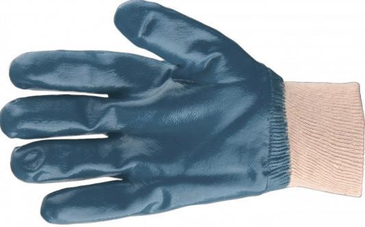 Перчатки трикотажные с обливом из бутадиен-нитрильного каучука, манжет, M// Сибртех