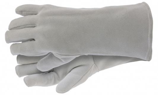 Перчатки спилковые с манжетой для садовых и строительных работ, утолщенные, размер XL// Сибртех