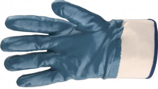 Перчатки трикотажные с обливом из бутадиен-нитрильного каучука, крага, M// Сибртех