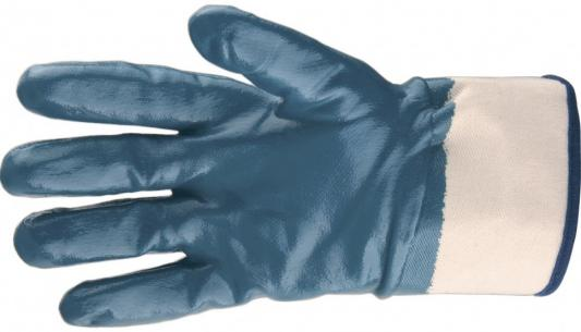 Перчатки трикотажные с обливом из бутадиен-нитрильного каучука, крага, L// Сибртех