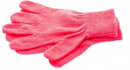 Перчатки трикотажные, акрил, цвет: коралл, двойная манжета, Россия// СИБРТЕХ
