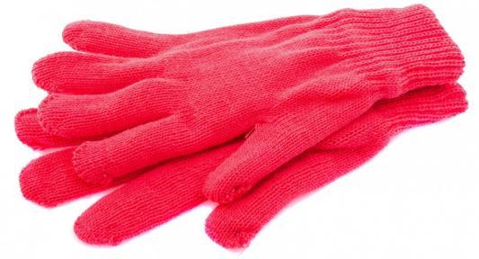 Перчатки трикотажные, акрил, двойные, цвет: коралл, двойная манжета, Россия// СИБРТЕХ