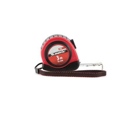Рулетка Status autostop magnet, 3 м х 16 мм, двухкомпонентный корпус, зацеп с магнитом// Matrix цена в Москве и Питере