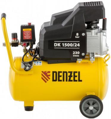 Компрессор воздушный DK1500/24,Х-PRO 1,5 кВт, 230 л/мин, 24 л// Denzel компрессор воздушный kd 24 200 1 5 квт 198 л мин 24 л kronwerk