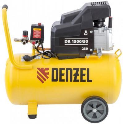 Компрессор воздушный DK1500/50,Х-PRO 1,5 кВт, 230 л/мин, 50 л// Denzel компрессор воздушный kd 24 200 1 5 квт 198 л мин 24 л kronwerk