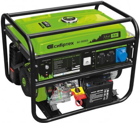 Генератор бензиновый БС-8000Э, 6,6 кВт, 230В, 4-х такт., 25 л, электростартер </div> <div class=