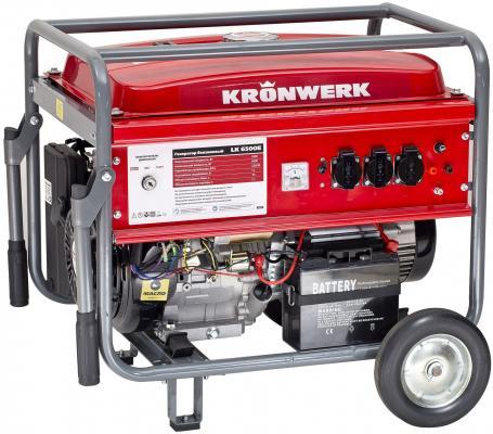 Генератор бензиновый LK 6500E,5,5 кВт, 230 В, бак 25 л, электростартер// Kronwerk