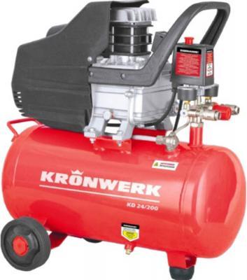 Компрессор воздушный KD 24/200, 1,5 кВт, 198 л/мин, 24 л// Kronwerk компрессор воздушный kd 24 200 1 5 квт 198 л мин 24 л kronwerk