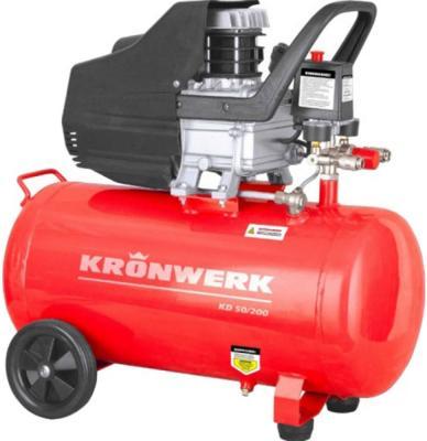 Компрессор воздушный KD 50/200, 1,5 кВт, 198 л/мин, 50 л// Kronwerk компрессор воздушный kd 24 200 1 5 квт 198 л мин 24 л kronwerk