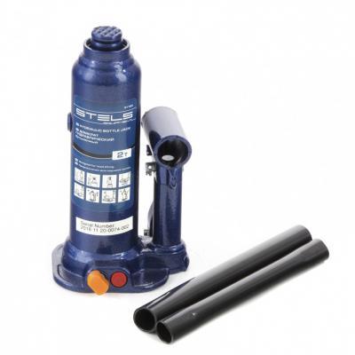 Домкрат гидравлический бутылочный, 2 т, h подъема 178–338 мм </div> <div class=