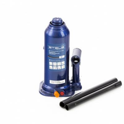 Домкрат гидравлический бутылочный, 5 т, h подъема 207–404 мм, в пласт. кейсе </div> <div class=