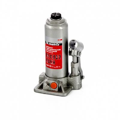 цена на Домкрат гидравлический бутылочный, 4 т, h подъема 194–372 мм, в пласт. кейсе// Matrix