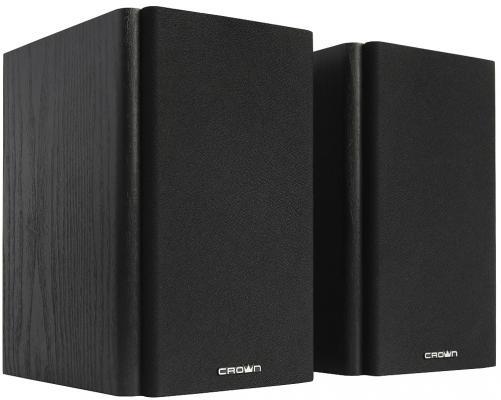 Акустическая система 2.0 CROWN CMS-505 (МДФ, 220V, 50W; управление Volume/Treble/Bass, кнопка включения, Длина кабеля между колонками 1м;Длина аудио-кабеля и питания 2м.,jack out)