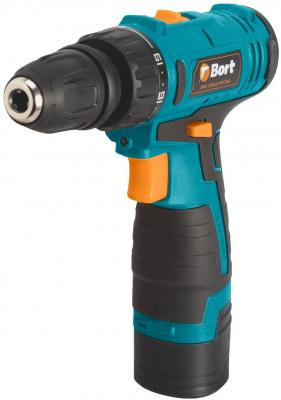 Дрель-шуруповерт аккумуляторная Bort BAB-12Nx2Li-FK-Twin Батарея 1,3 А.ч; Li-Ion ; Максимальный крутящий момент 25 Нм;
