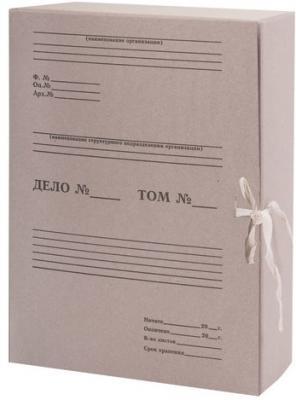 Короб архивный STAFF, 100 мм, переплетный картон, 2 хлопчатобумажные завязки, до 700 листов, 110930