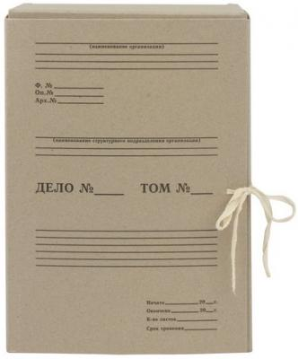 Короб архивный STAFF, 150 мм, переплетный картон, 2 хлопчатобумажные завязки, до 1400 листов, 110931