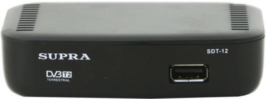 лучшая цена Ресивер DVB-T2 Supra SDT-12 черный