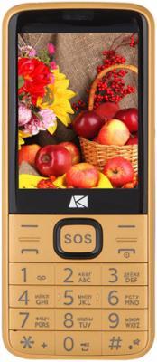 """Мобильный телефон ARK Power 4 золотистый 2.8"""" 32 Мб Bluetooth"""
