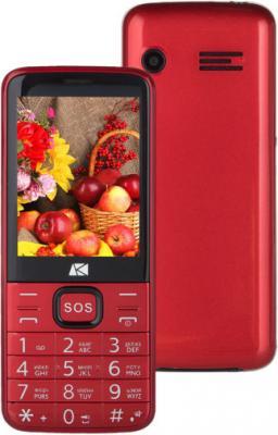 """Мобильный телефон ARK Power 4 красный 2.8"""" Bluetooth"""
